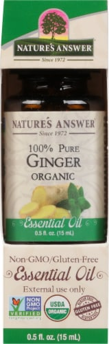 Nature's Answer Ginger Essential Oil Perspective: front