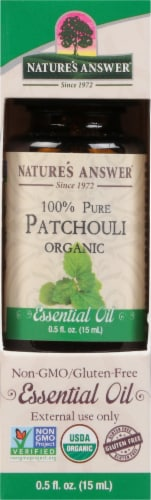 Nature's Answer Patchouli Essential Oil Perspective: front
