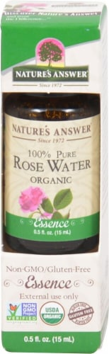 Nature's Answer Rose Water Essential Oil Perspective: front