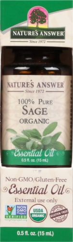 Nature's Answer Sage Essential Oil Perspective: front