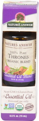 Nature's Answer 100% Pure Organic Essential Oil Blend Thrones Perspective: front