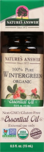 Nature's Answer Wintergreen Essential Oil Perspective: front