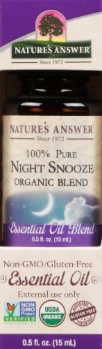 Nature's Answer Night Snooze Essential Oil Perspective: front