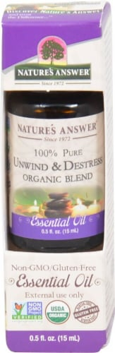 Nature's Answer Unwind & Destress Essential Oil Perspective: front