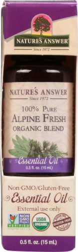 Nature's Answer Alpine Fresh Essential Oil Perspective: front