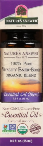 Nature's Answer Vitality & Energy Booster Essential Oil Perspective: front
