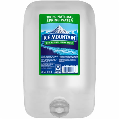 Ice Mountain Natural Spring Water Perspective: front