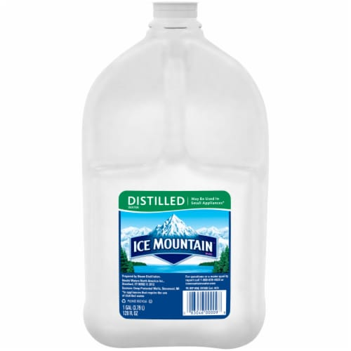 Ice Mountain Distilled Water Perspective: front