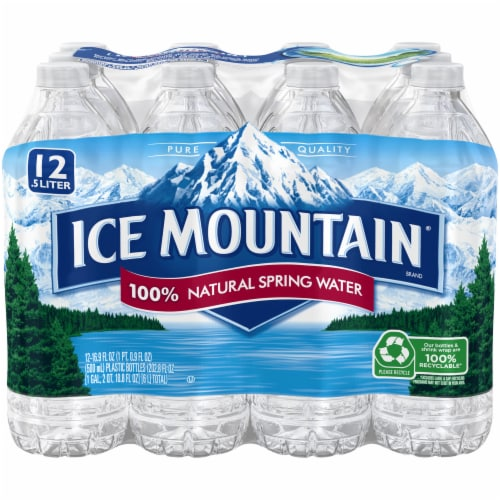 Ice Mountain Natural Spring Water 12 Count Perspective: front