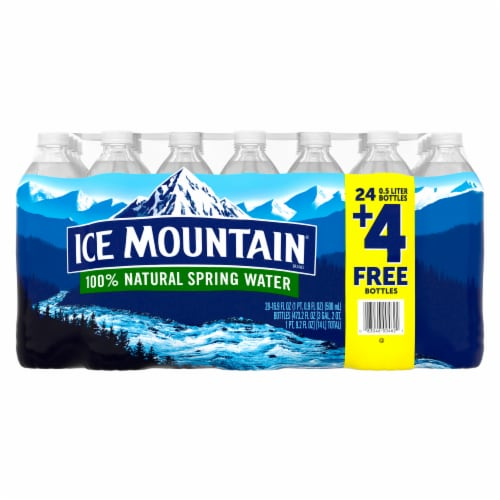 Ice Mountain 100% Natural Spring Water Perspective: front