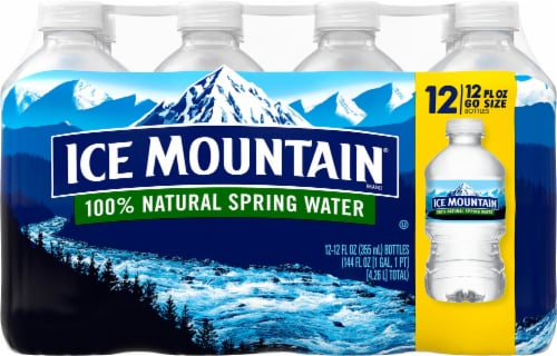Ice Mountain Go Size Natural Spring Water Perspective: front