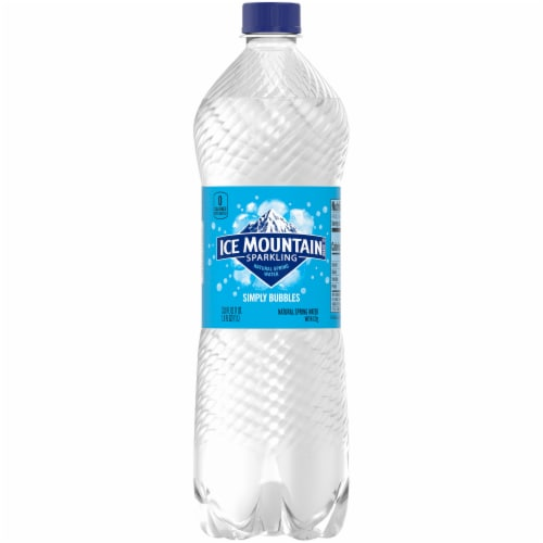Ice Mountain Natural Sparkling Bottled Water Perspective: front