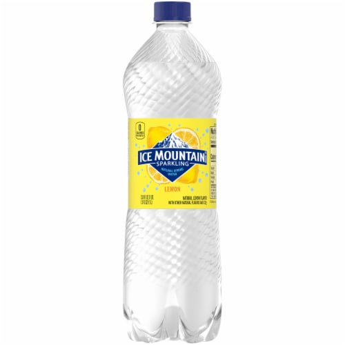 Ice Mountain Lemon Sparkling Water Perspective: front