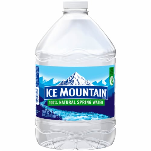 Ice Mountain Natural Spring Bottled Water Perspective: front