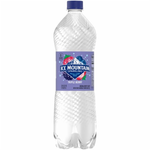 Ice Mountain Triple Berry Bottled Sparkling Water Perspective: front