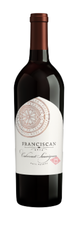 Franciscan Cabernet Sauvignon Red Wine Perspective: front