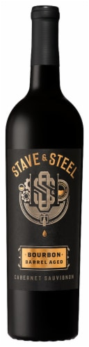 Stave & Steel Bourbon Barrel Aged Cabernet Sauvignon Red Wine Perspective: front
