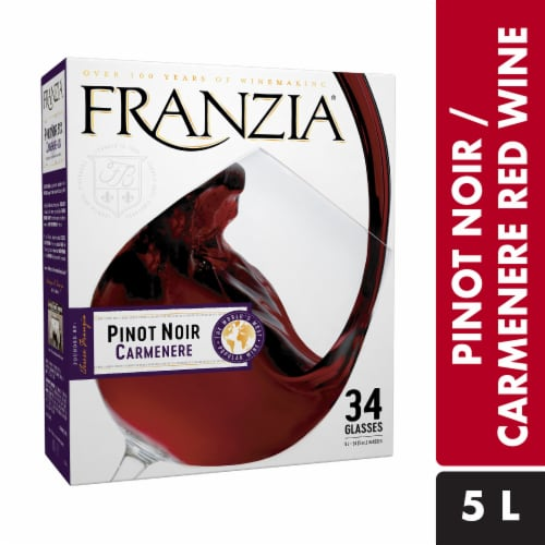 Franzia Pinot Noir Carmenere Red Wine Perspective: front
