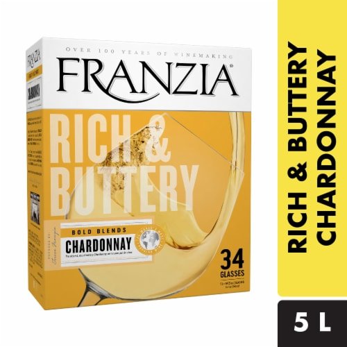 Franzia Rich and Buttery Bold Blends Chardonnay White Wine Perspective: front
