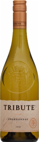 Tribute Chardonnay White Wine Perspective: front