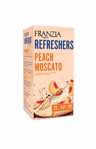 Franzia Refreshers Peach Moscato Box Rose Wine Perspective: front