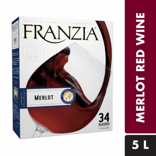 Franzia Merlot Boxed Red Wine Perspective: front