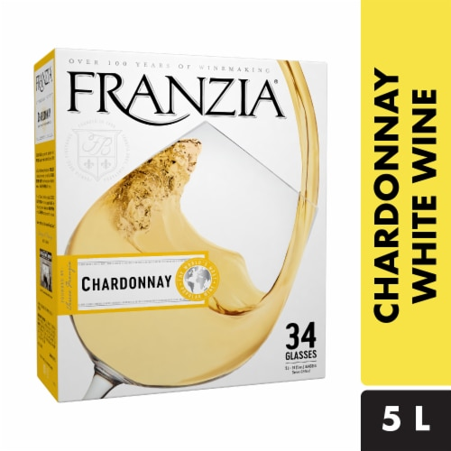 Franzia Chardonnay Boxed White Wine Perspective: front