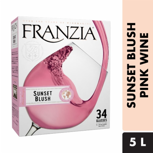 Franzia Sunset Blush Pink Wine Perspective: front