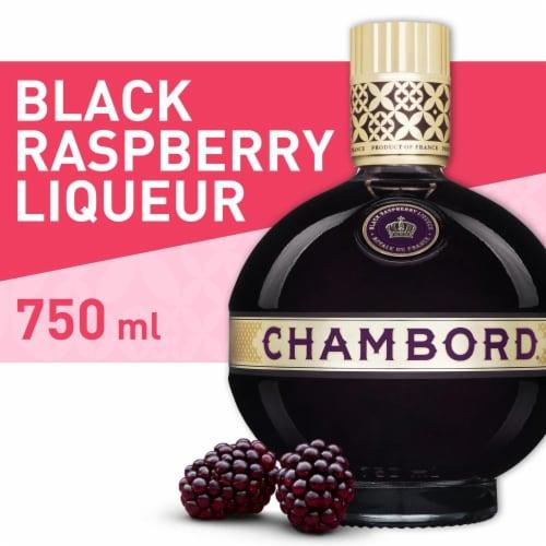 Chambord Black Raspberry Flavored Fruit Liqueur Perspective: front