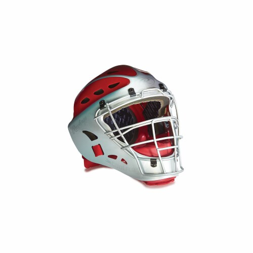 Rawlings 1383968 Youth Two-Tone Catchers Helmet, Black Perspective: front