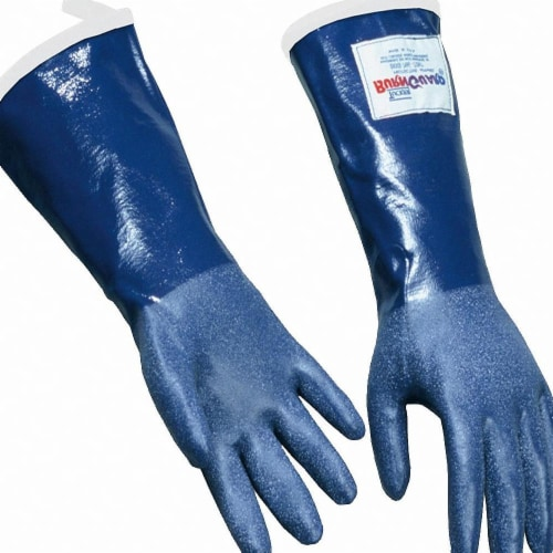 Daymark Steam Resistant Gloves,Blue, M,Rubber,PR  92143 Perspective: front