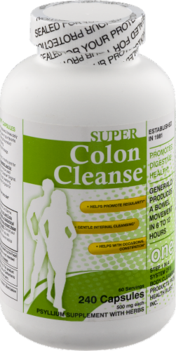 Health Plus Super Colon Cleanse 500 mg Perspective: front