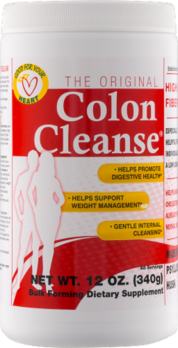 Health Plus The Original Colon Cleanse Bulk Forming Dietary Supplement Perspective: front