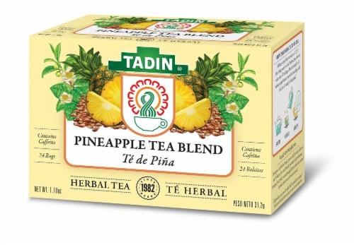 Tadin Pineapple Tea Blend Herbal Tea Perspective: front