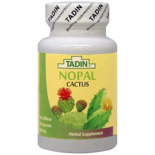 Tadin Nopal Cactus Capsules 400mg Perspective: front