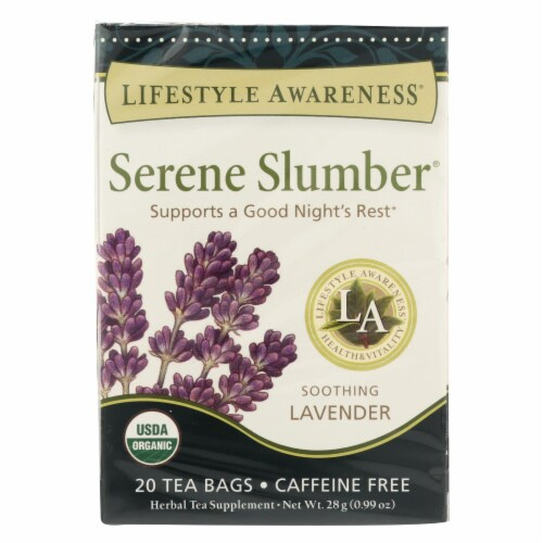 Lifestyle Awareness Serene Slumber Organic Tea  - Case of 6 - 20 BAG Perspective: front