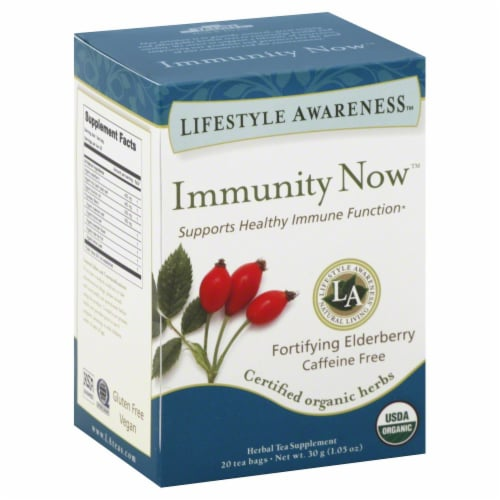 Lifestyle Awareness Immunity Now Tea Perspective: front