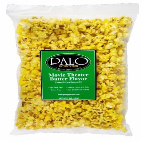 Palo Movie Theater Butter Flavor Popcorn Perspective: front
