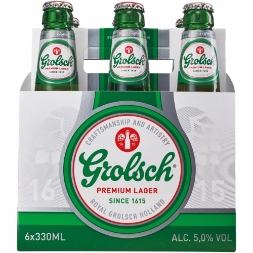 Grolsch Premium Pilsner Beer Perspective: front
