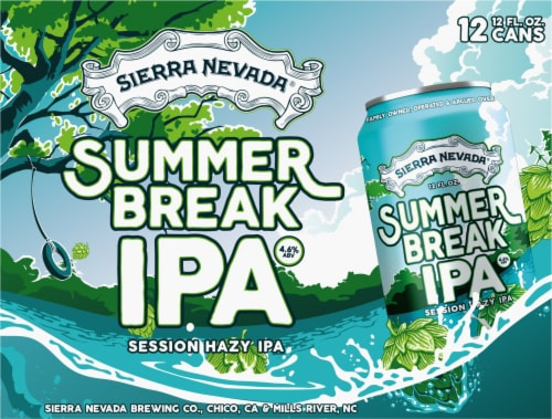 Sierra Nevada Brewing Co. Summer Break Session Hazy IPA Beer Perspective: front