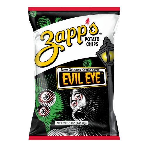 Zapp's Evil Eye New Orleans Kettle Style Potato Chips Perspective: front