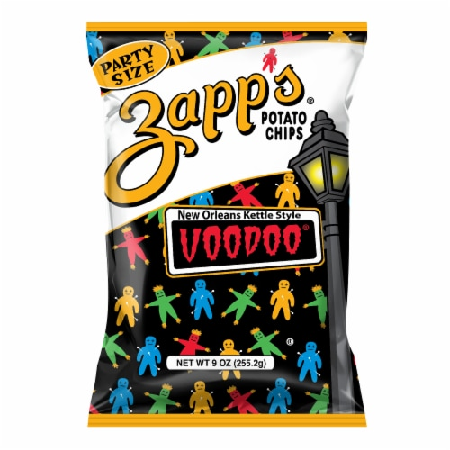 Zapp's New Orleans Kettle Style Voodoo Potato Chips Party Size Perspective: front