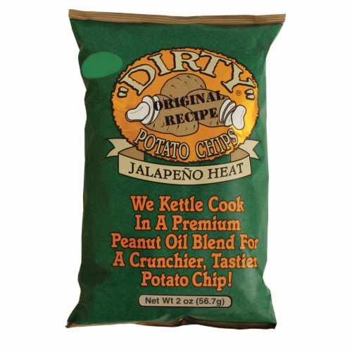 Dirty Jalapeno Heat Potato Chips Perspective: front