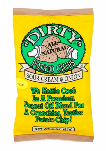 Utz Dirty Sour Cream & Onion Potato Chips Perspective: front