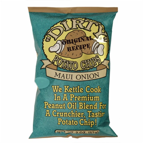 Dirty Maui Onion Potato Chips, 2 Ounce -- 25 per case. Perspective: front