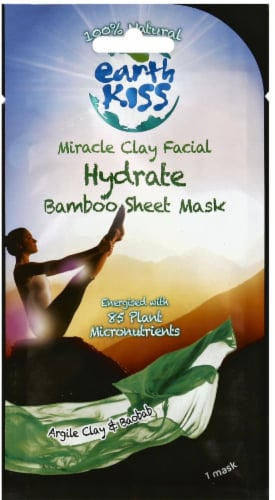 Earth Kiss Hydrate Miracle Clay Facial Sheet Mask Perspective: front