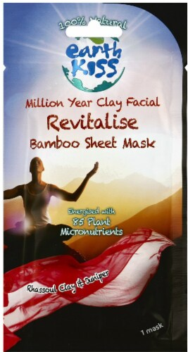 Earth Kiss Revitalise Million Year Clay Facial Sheet Mask Perspective: front