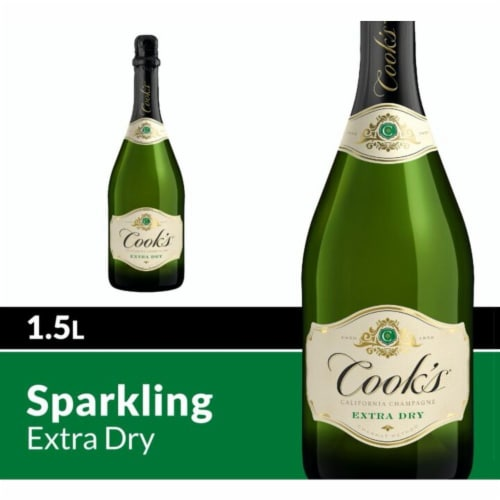 Cook's Extra Dry Champagne White Sparkling Wine Perspective: front