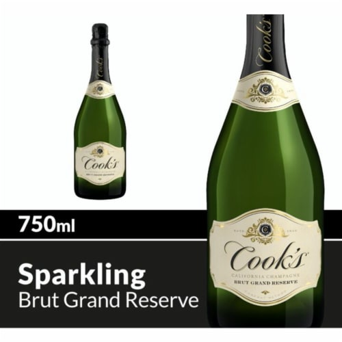 Cook's Grand Reserve Champagne Sparkling White Wine Perspective: front