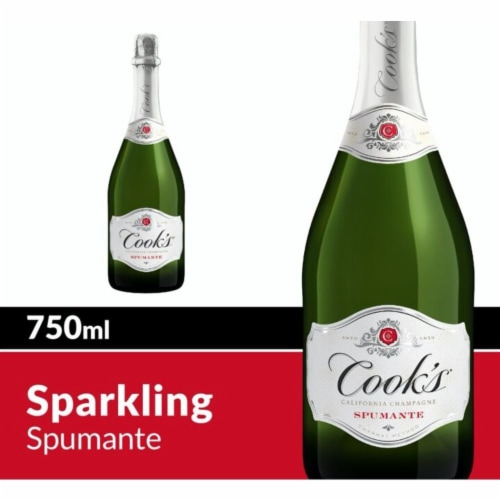 Cook's Spumante Champagne Sparkling White Wine Perspective: front